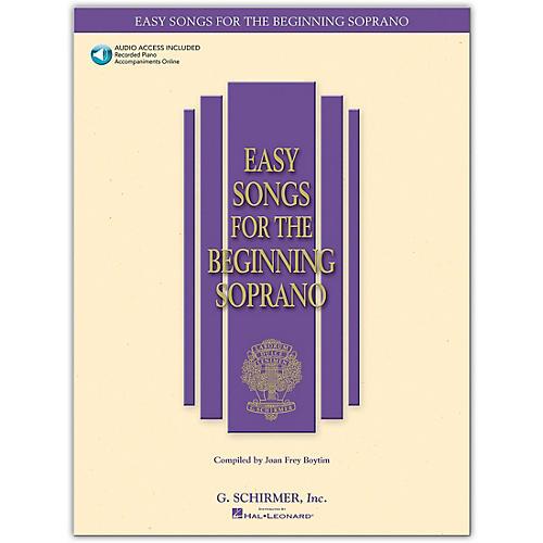 G. Schirmer Easy Songs for The Beginning for Soprano Book/Online Audio