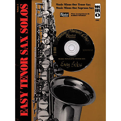 Music Minus One Easy Tenor Sax Solos - Volume 2 Music Minus One Series Book with CD