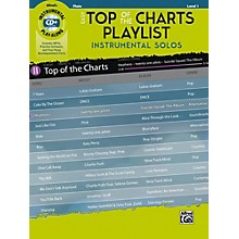 Alfred Easy Top of the Charts Playlist Instrumental Solos Flute Book & CD Level 1
