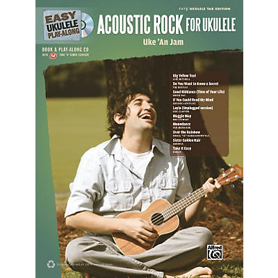 Alfred Easy Ukulele Play-Along Acoustic Rock Book/CD