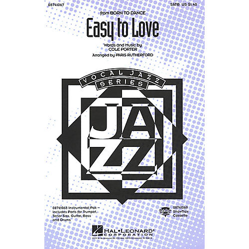 Hal Leonard Easy to Love SATB arranged by Paris Rutherford