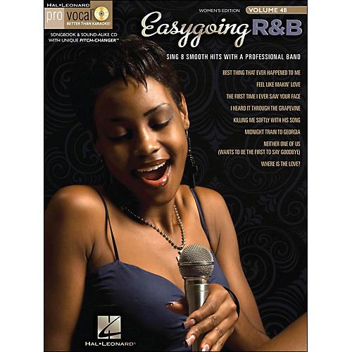 Hal Leonard Easygoing R&B Pro Vocal Songbook & CD for Female Singers Volume 48