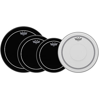 Remo Ebony Pinstripe Standard Pro Pack with Free 14 in. Coated Pinstripe Snare Drum Head