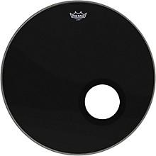 Ebony Powerstroke 3 Resonant Bass Drum Head with 5 Port Hole Ebony 24 in.