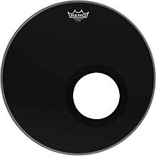 Ebony Powerstroke 3 Resonant Bass Drumhead with 5 Inch Port Hole Ebony 18 in.