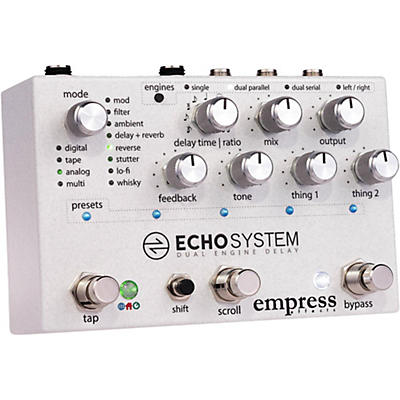 Empress Effects Echosystem Dual Delay Effects Pedal