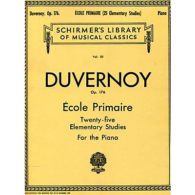 G. Schirmer Ecole Primaire Op 176 Piano Twenty Five Elementary Studies By Duvernoy