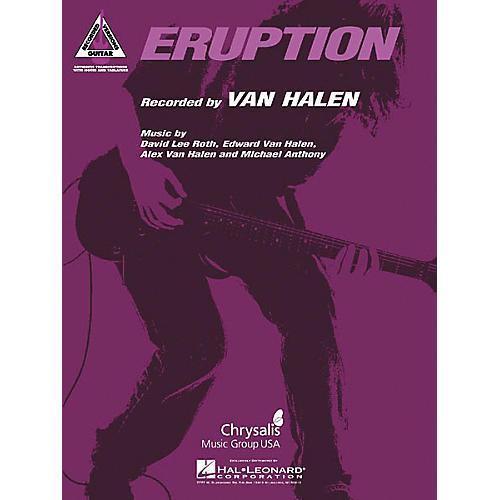 Hal Leonard Eddie Van Halen Eruption Guitar Tab