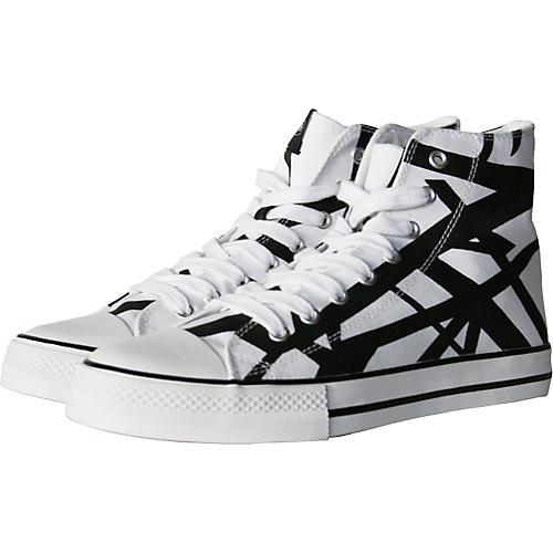 EVH Eddie Van Halen High Top Sneakers - White with Black Stripes