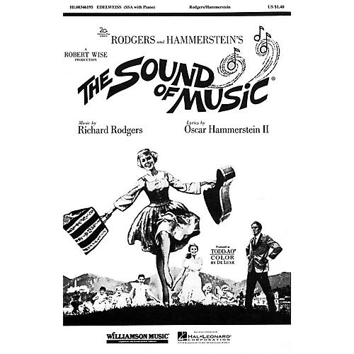 Hal Leonard Edelweiss SATB Arranged by John Cacavas