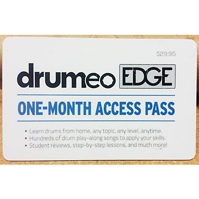 Drumeo Edge Membership Card - One Month