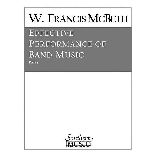 Southern Effective Performance of Band Music (Full Score) Concert Band Level 2 Composed by W. Francis McBeth