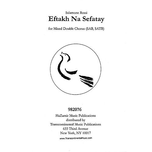 Transcontinental Music Eftakh Na Sefatay SATB arranged by Joshua Jacobson