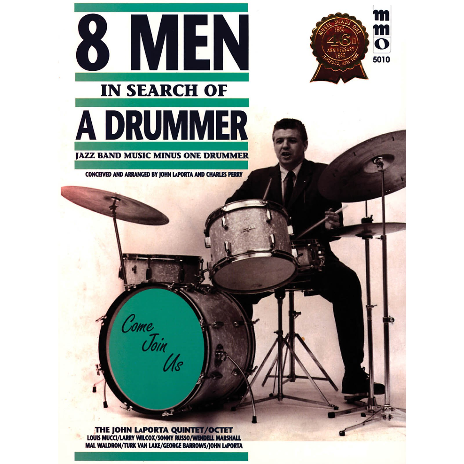 Music Minus One Eight Men in Search of a Drummer Music Minus One Series Softcover with CD