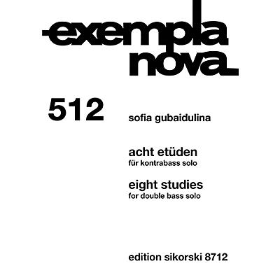 Sikorski Eight Studies [Acht Etüden] (Double Bass Solo) String Series Softcover