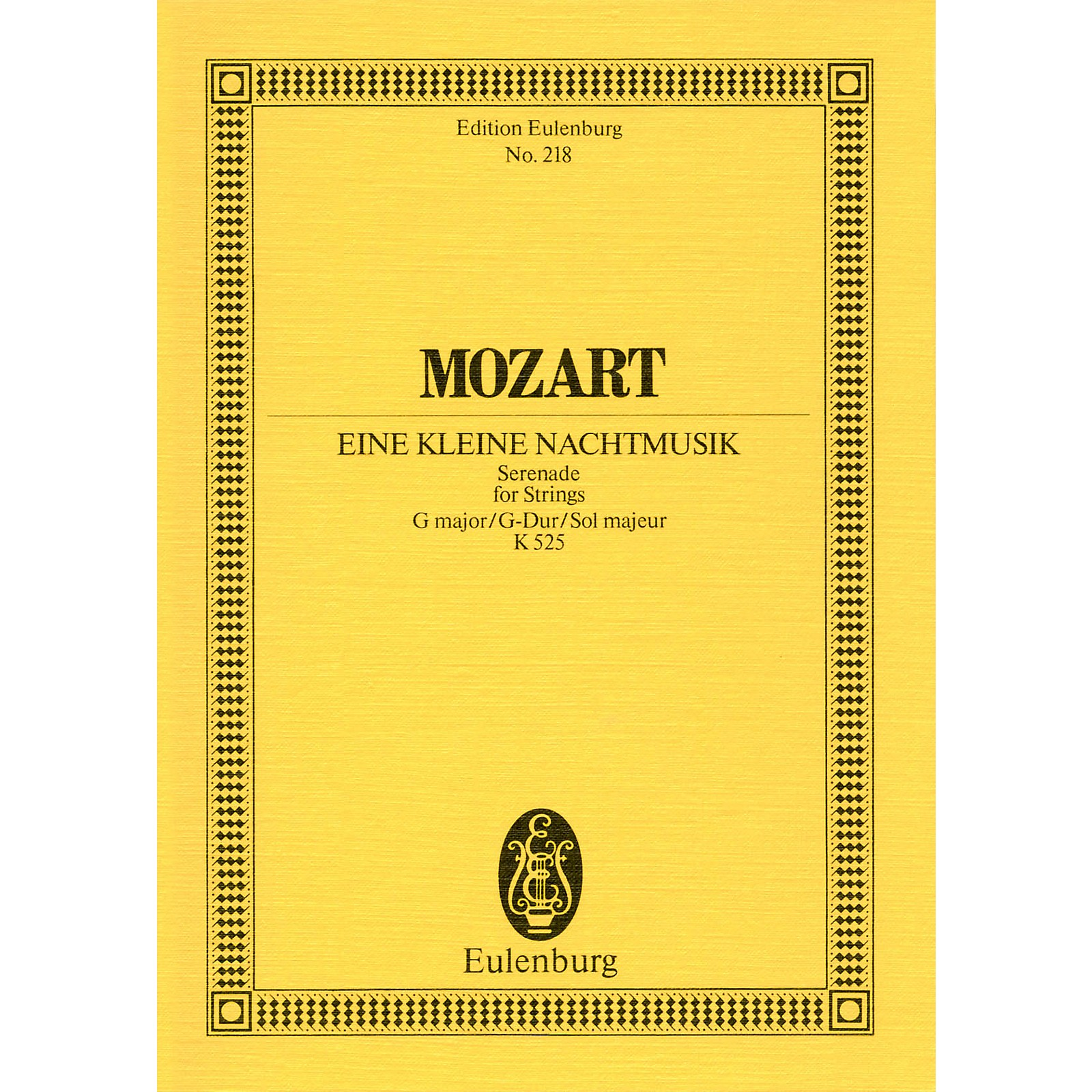 Eulenburg Eine kleine Nachtmusik, KV 525 Schott Composed by Wolfgang Amadeus Mozart Arranged by Dieter Rexroth