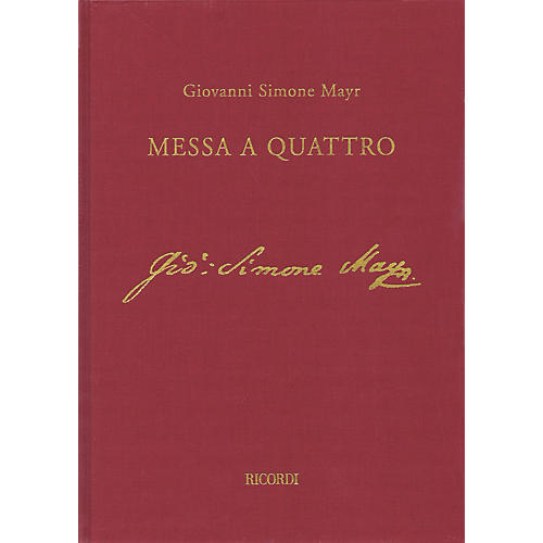 Ricordi Einsiedeln Mass in C min (Messa a Quattro) Full Sc with Critical Comm Hardcover by Mayr Edited by Jacob