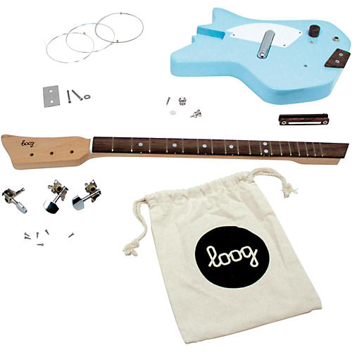 loog guitars electric guitar kit blue musician 39 s friend. Black Bedroom Furniture Sets. Home Design Ideas