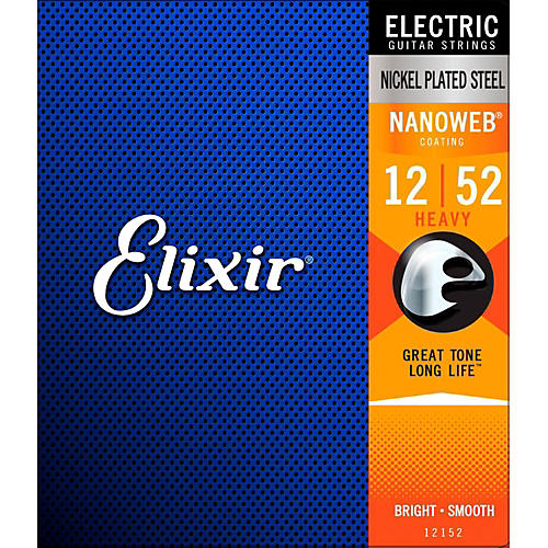 Elixir Electric Guitar Strings with NANOWEB Coating, Heavy (.012-.052)
