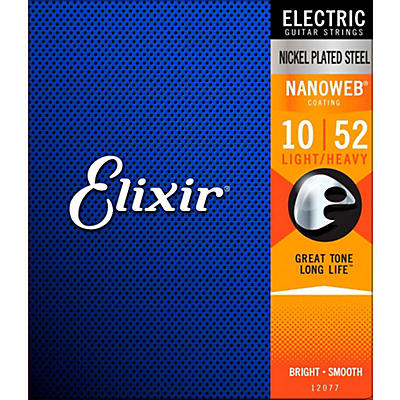Elixir Electric Guitar Strings with NANOWEB Coating, Light/Heavy (.010-.052)