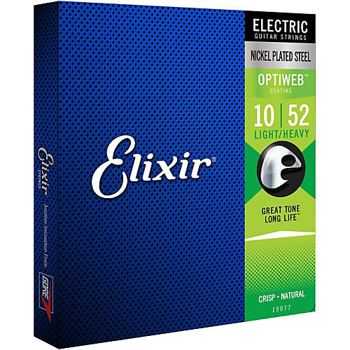 Elixir Electric Guitar Strings with OPTIWEB Coating, Light/Heavy (.010-.052)