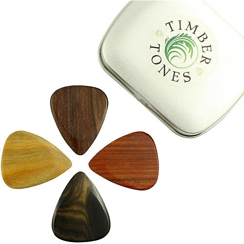 Timber Tones Electric Mixed Tin of 4 Guitar Picks