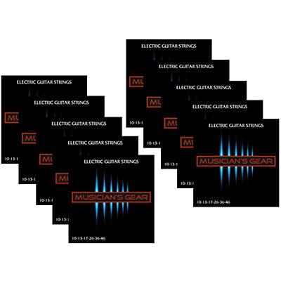 Musician's Gear Electric Nickel Plated Steel Guitar Strings 10-46 - 10-Pack