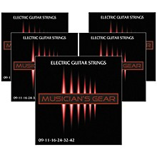Musician's Gear Electric Nickel Plated Steel Guitar Strings 9-42 - 5-Pack