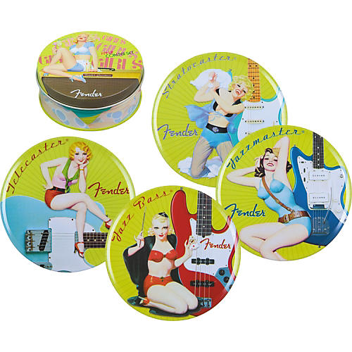 Fender Electro Lounge Pinup Coaster Set