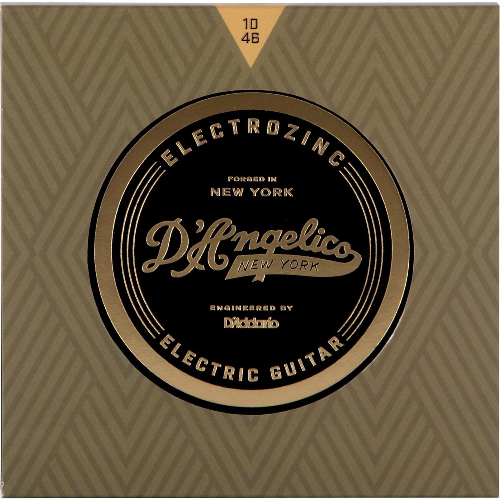 D'Angelico Electrozinc Rock 10-46 Light Electric Guitar Strings