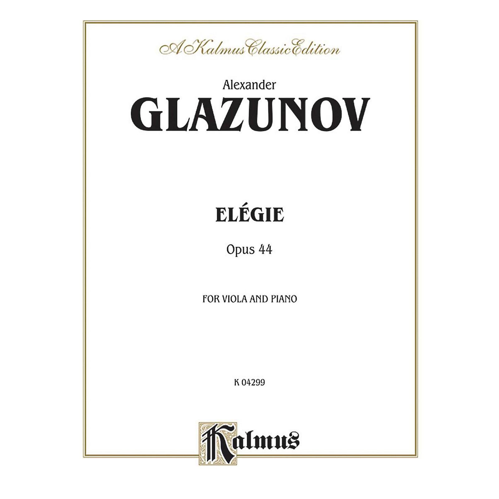 Alfred Elegie for Viola Op. 44 for Viola By Alexander Glazunov Book
