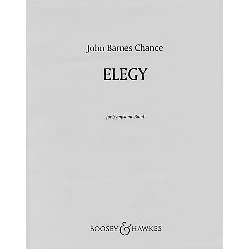 Boosey and Hawkes Elegy (for Symphonic Band) Concert Band Composed by John Barnes Chance