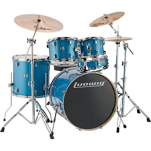 ludwig element evolution 5 piece drum set color with zildjan zbt cymbals musician 39 s friend. Black Bedroom Furniture Sets. Home Design Ideas