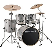 Element Evolution 5-Piece Drum Set Silver/White Sparkle