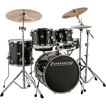 "Ludwig Element Evolution 5-piece Drum Set with 20"" Bass Drum & Zildjian ZBT Cymbals"