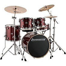 "Ludwig Element Evolution 5-piece Drum Set with 20"" Bass Drum & Zildjian ZBT Cymbals"