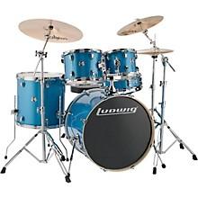 "Ludwig Element Evolution 5-piece Drum Set with 22"" Bass Drum & Zildjian ZBT Cymbals"