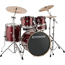 "Ludwig Element Evolution 5-piece Drum Set with 22"" Bass Drum & Zildjian ZBT Cymbals"
