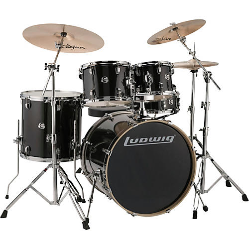 Ludwig Element Evolution 5-piece Drum Set with 22 in. Bass Drum and Zildjian