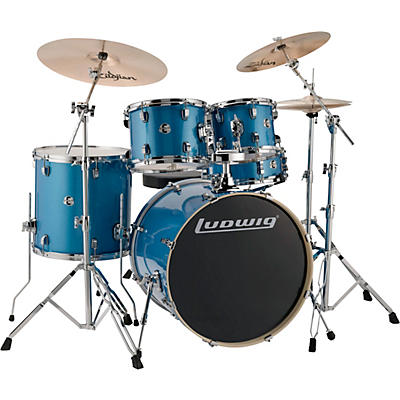 """Ludwig Element Evolution 5-piece Drum Set with 22 in. Bass Drum and Zildjian """"I"""" Series Cymbals"""