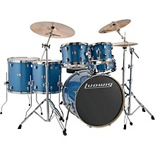 "Ludwig Element Evolution 6-piece Drum Set with 22"" Bass Drum & Zildjian ZBT Cymbals"