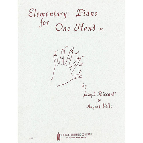 Music Sales Elementary Piano for 1 Hand Music Sales America Series
