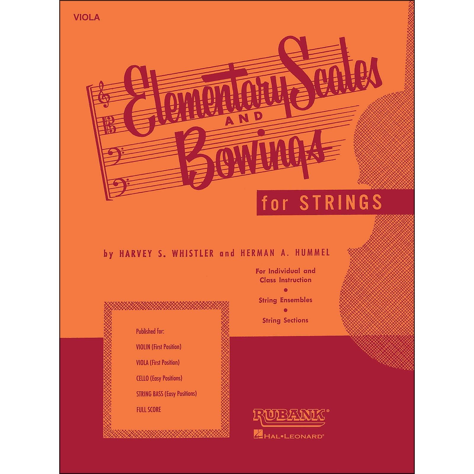 Hal Leonard Elementary Scales And Bowings - Viola