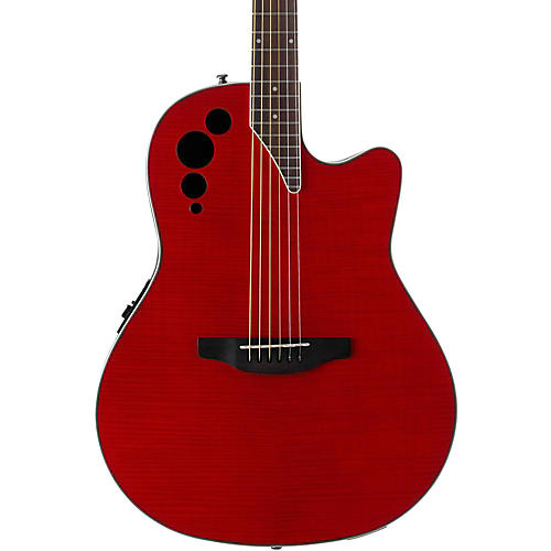 Applause Elite Series AE44IIP Acoustic-Electric Guitar Transparent Cherry Flame