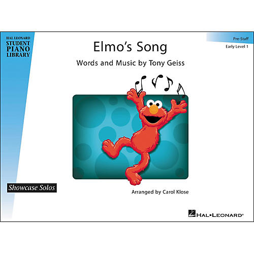 Hal Leonard Elmo's Song - Showcase Solo Early Level 1 Pre-Staff Hal Leonard Student Piano Library by Carol Klose