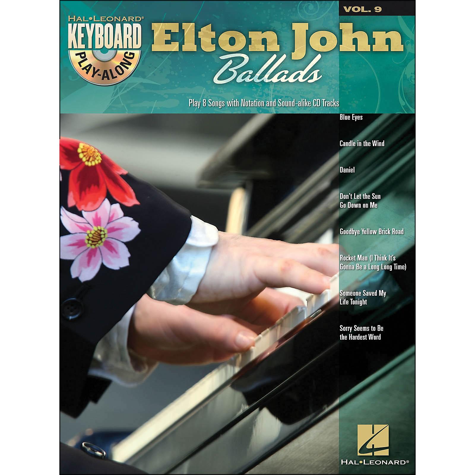 Hal Leonard Elton John Ballads - Keyboard Play-Along Volume 9 (Book/CD)