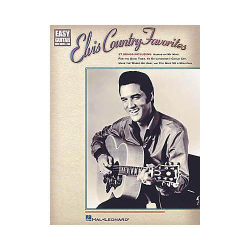 Hal Leonard Elvis Country Favorites Easy Guitar Book