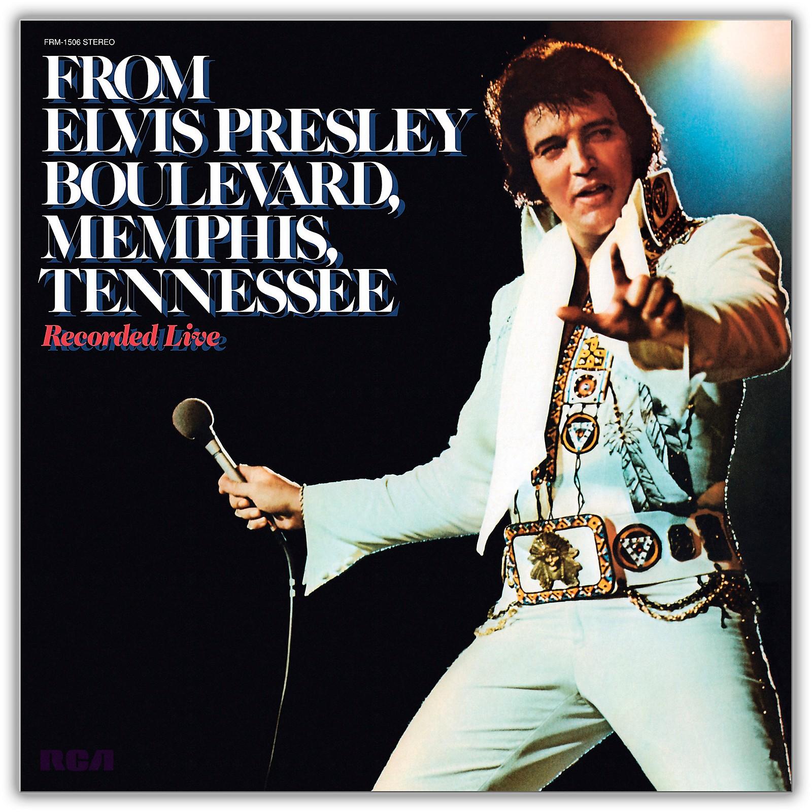 RED Elvis Presley - From Elvis Presley Boulevard, Memphis, Tennessee
