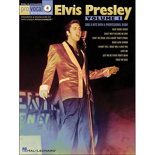 Hal Leonard Elvis Presley - Pro Vocal Songbook Men's Edition Volume 1 Book/CD