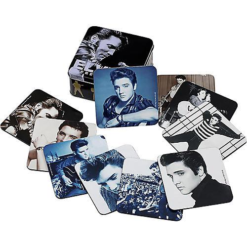 Vandor Elvis Presley 10pc. Coaster set w/ collector tin